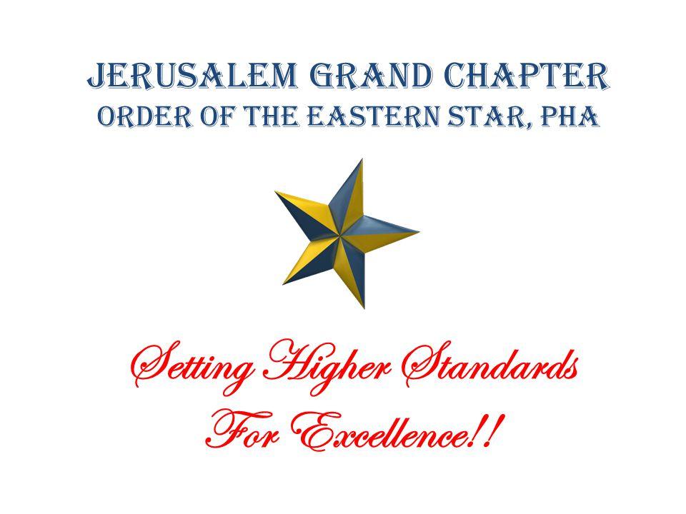 Jerusalem Grand Chapter Order of the Eastern Star, PHA