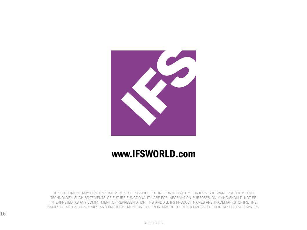 © 2013 IFS
