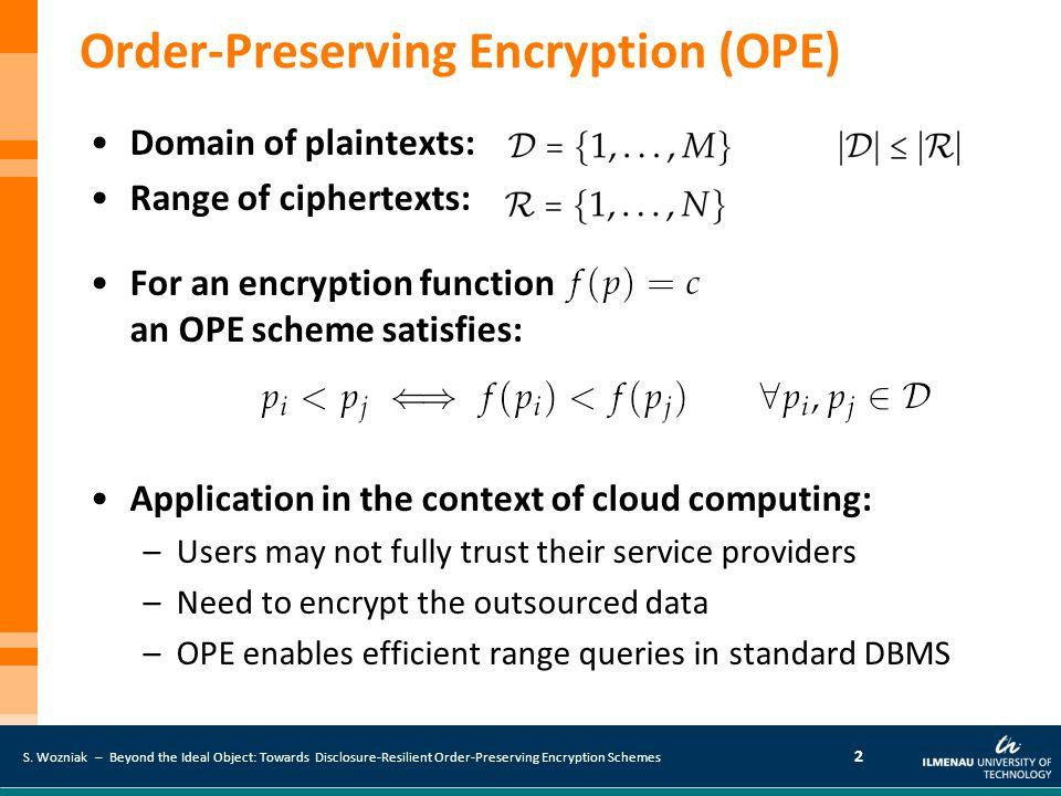 Order-Preserving Encryption (OPE)