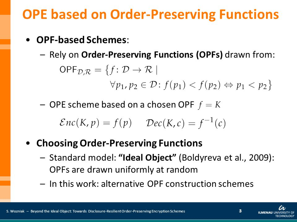 OPE based on Order-Preserving Functions
