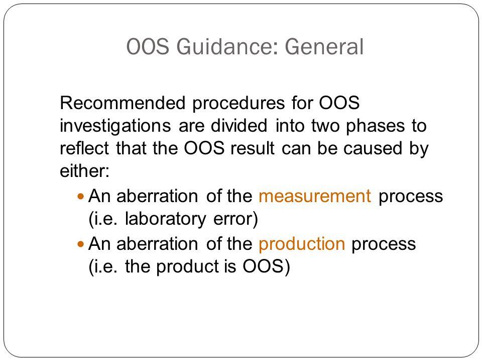 3/31/2017 OOS Guidance: General.