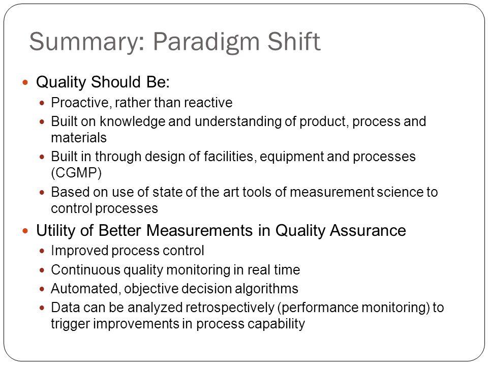 Summary: Paradigm Shift