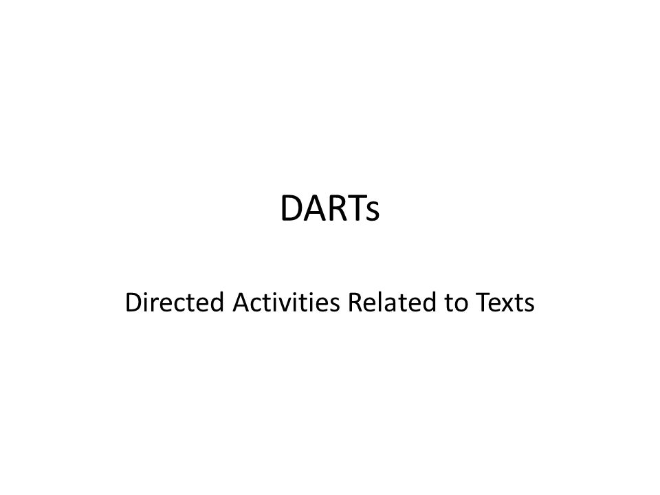 Directed Activities Related to Texts
