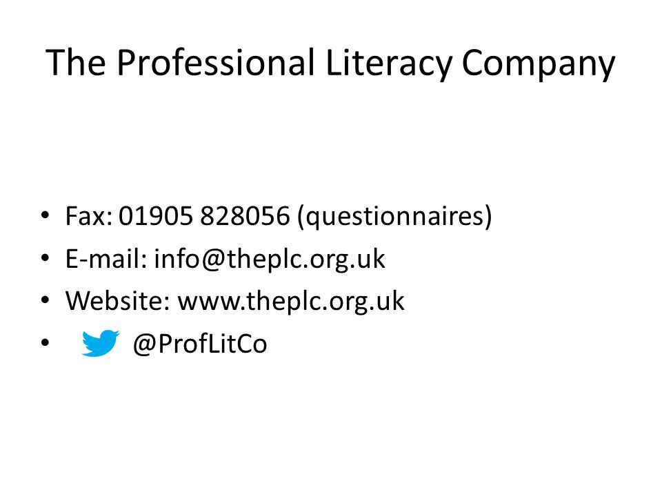 The Professional Literacy Company