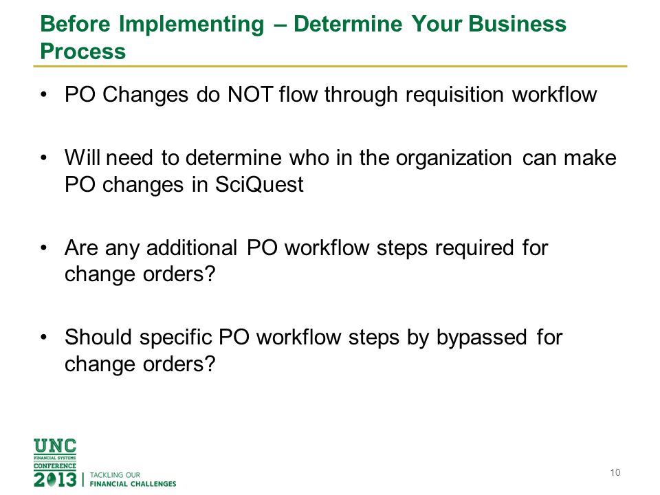 Before Implementing – Determine Your Business Process