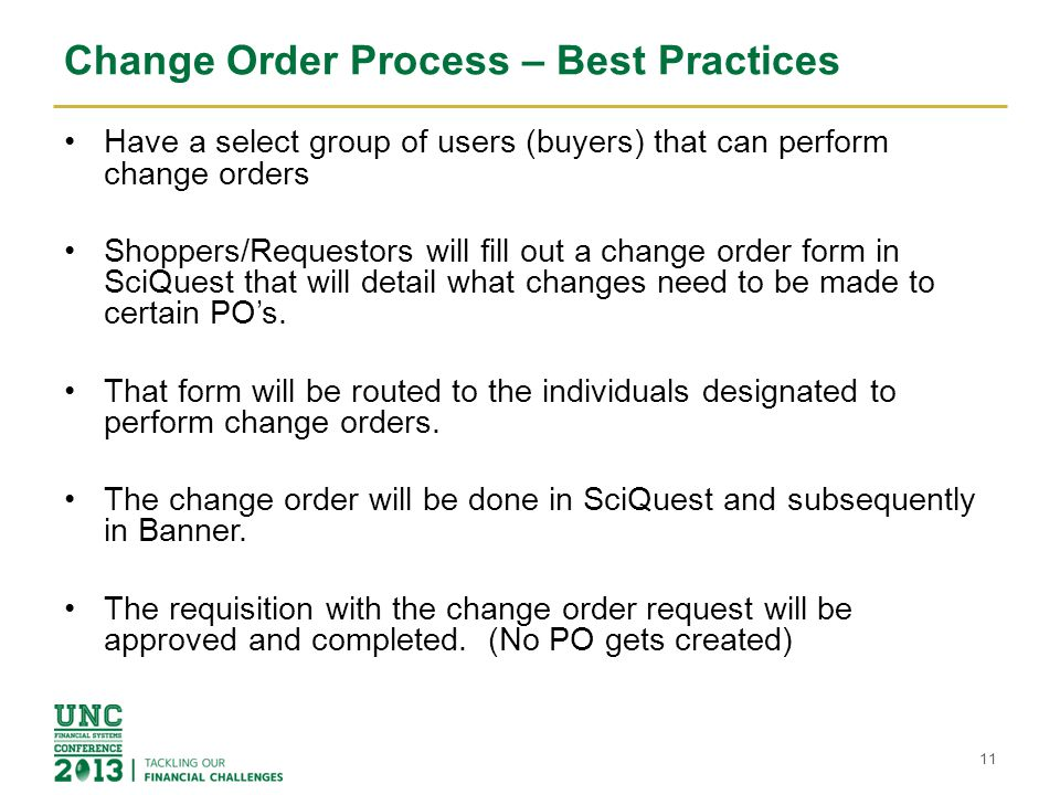 Change Order Process – Best Practices