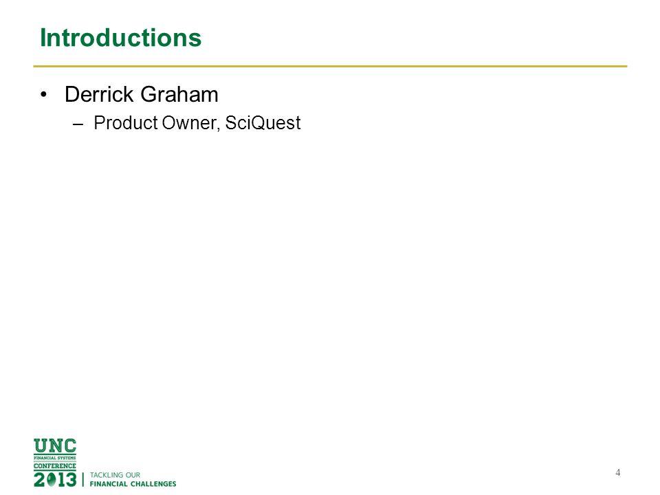 Introductions Derrick Graham Product Owner, SciQuest