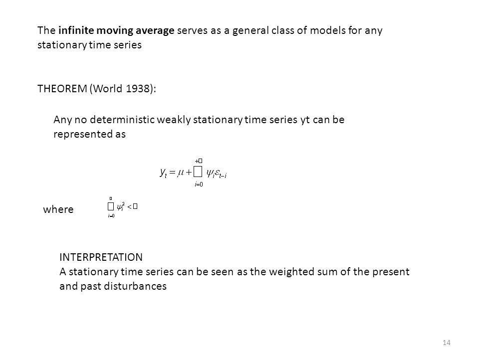 The infinite moving average serves as a general class of models for any stationary time series
