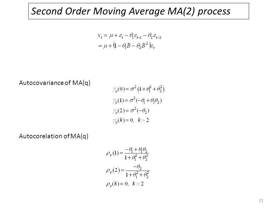 Second Order Moving Average MA(2) process