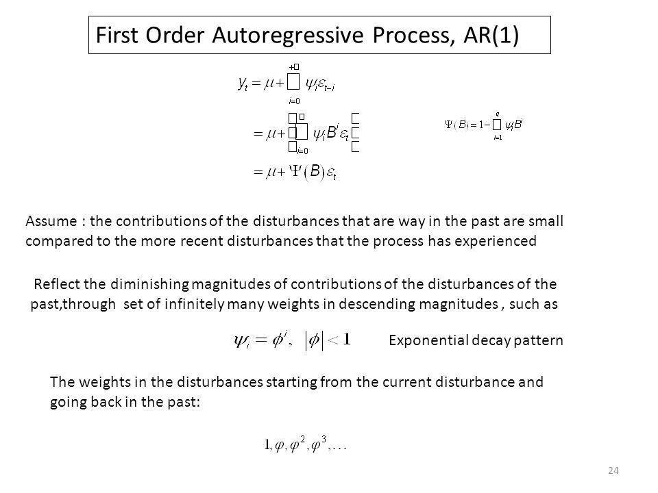 First Order Autoregressive Process, AR(1)