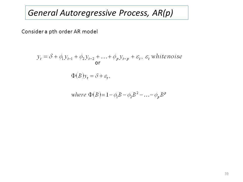 General Autoregressive Process, AR(p)