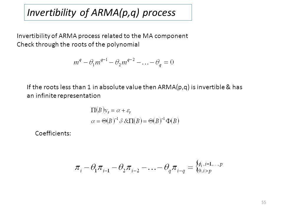 Invertibility of ARMA(p,q) process