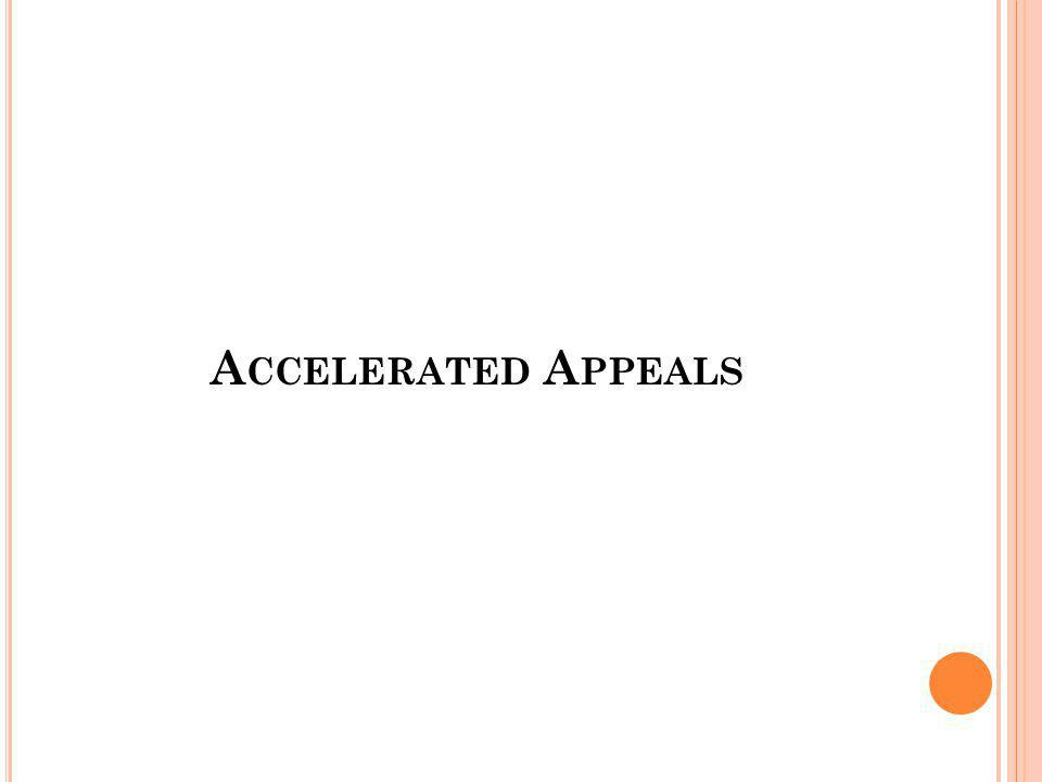 Accelerated Appeals