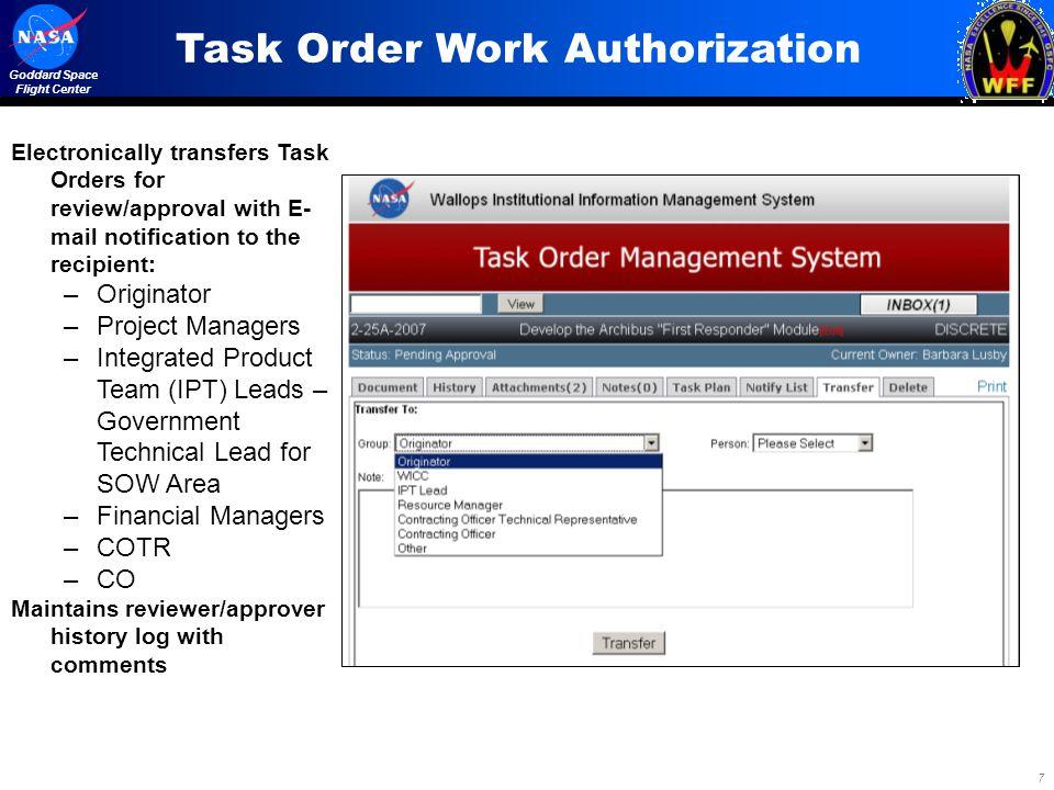 Task Order Work Authorization