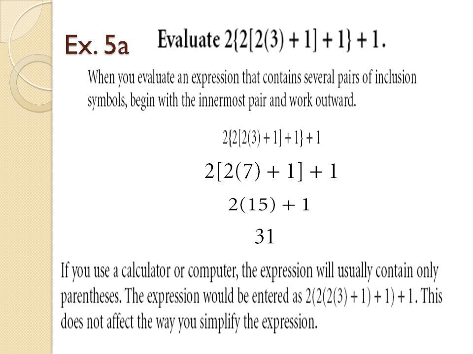 Ex. 5a