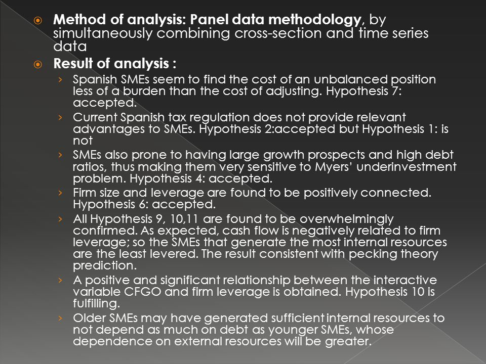 Method of analysis: Panel data methodology, by simultaneously combining cross-section and time series data