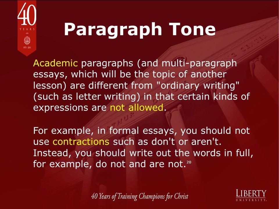 Paragraph Tone