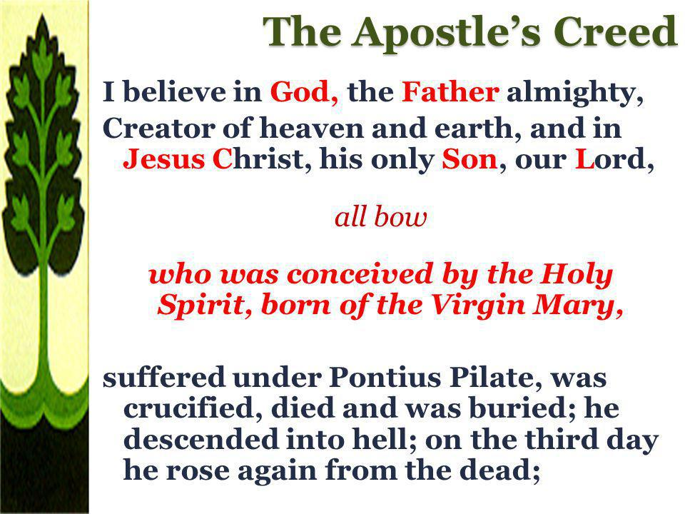 who was conceived by the Holy Spirit, born of the Virgin Mary,