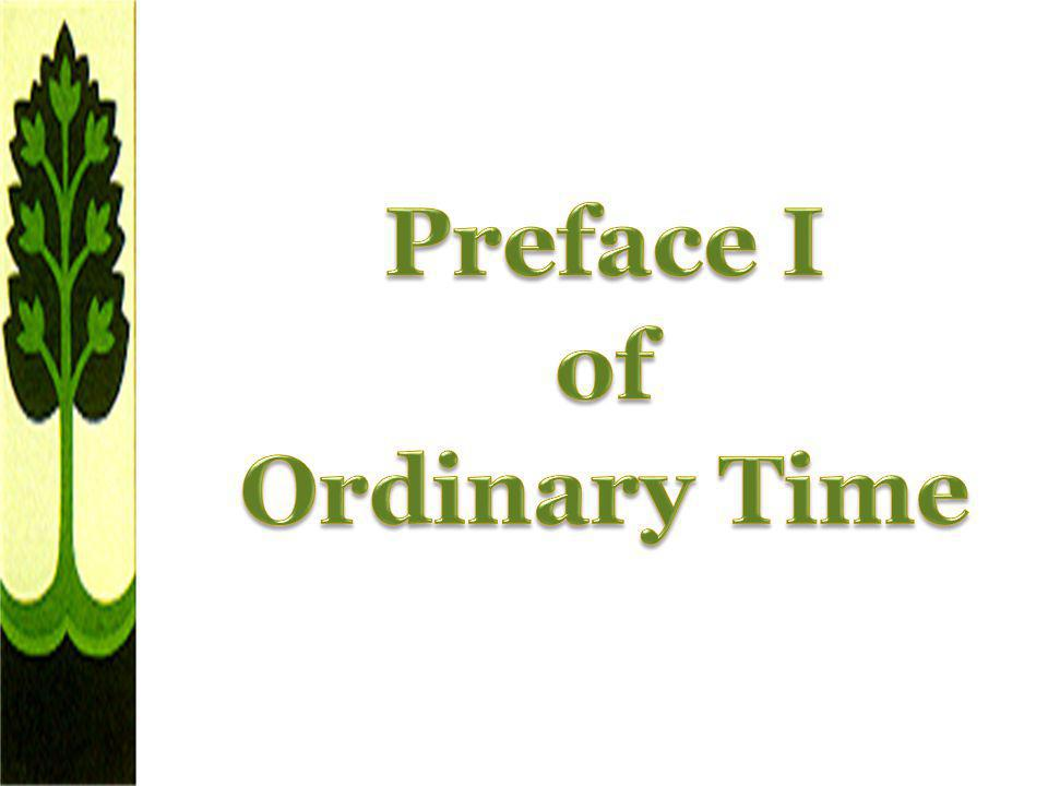 Preface I of Ordinary Time