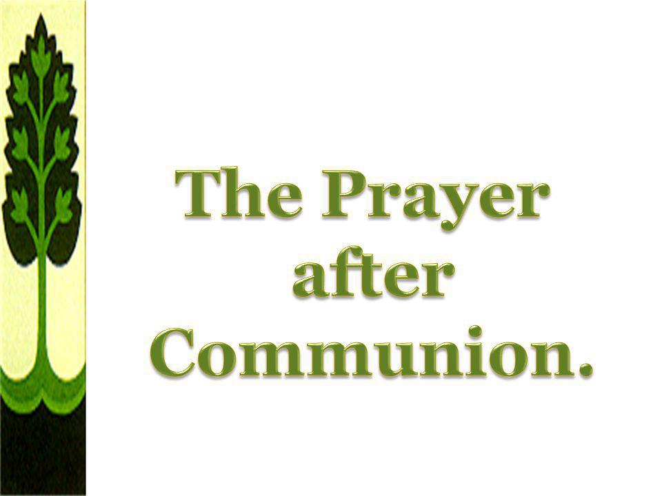 The Prayer after Communion.