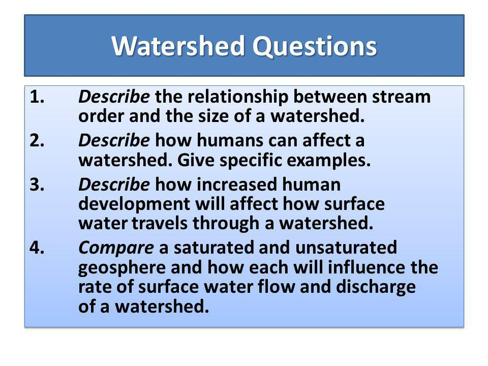 Watershed Questions