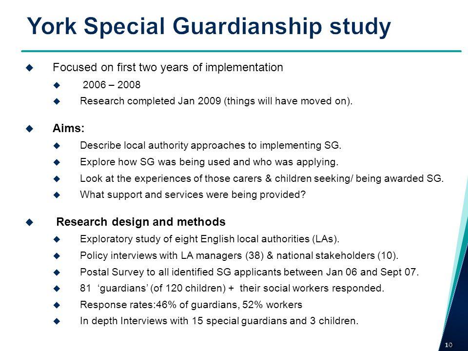 York Special Guardianship study