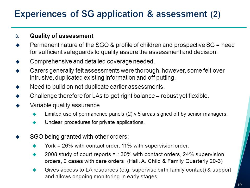Experiences of SG application & assessment (2)