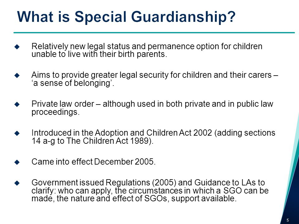 What is Special Guardianship