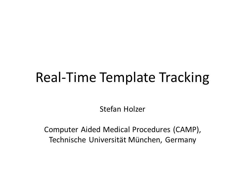 Real-Time Template Tracking
