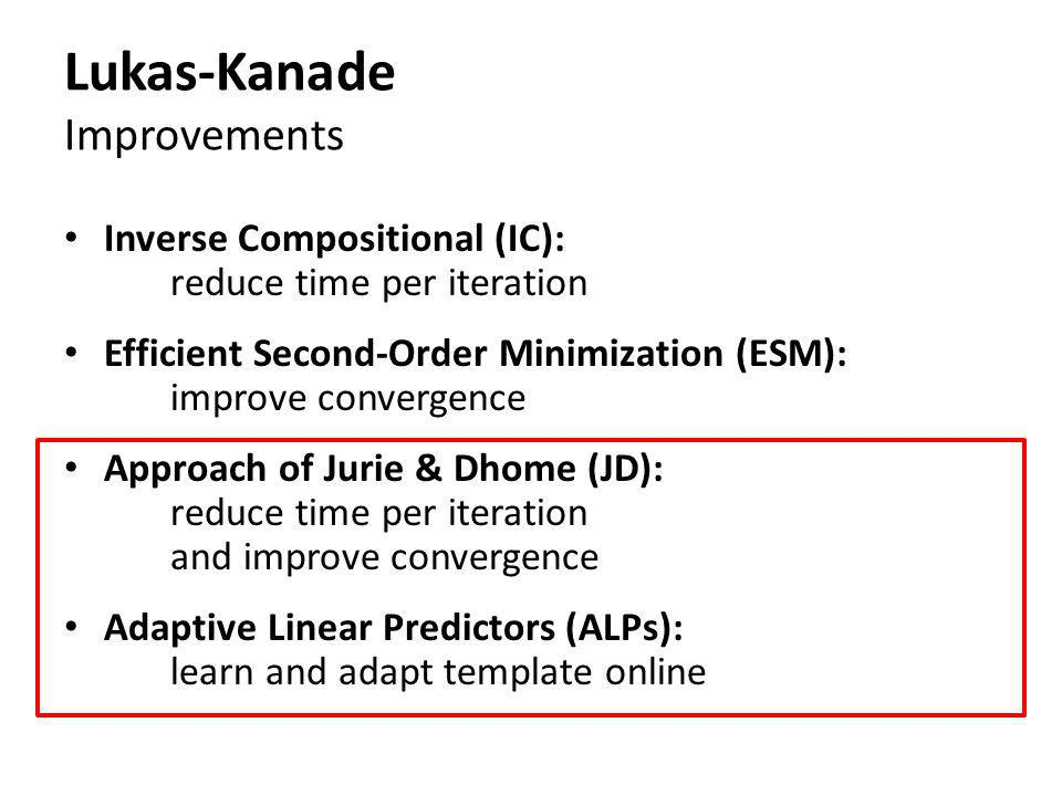 Lukas-Kanade Improvements