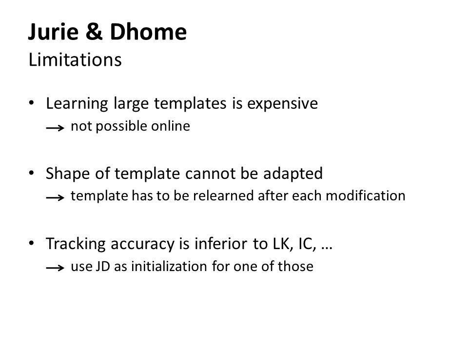 Jurie & Dhome Limitations