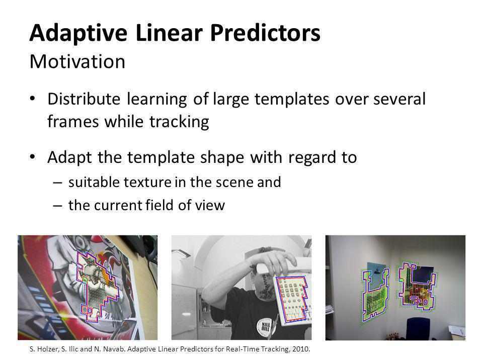 Adaptive Linear Predictors Motivation