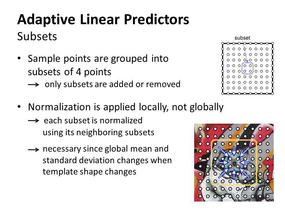Adaptive Linear Predictors Subsets