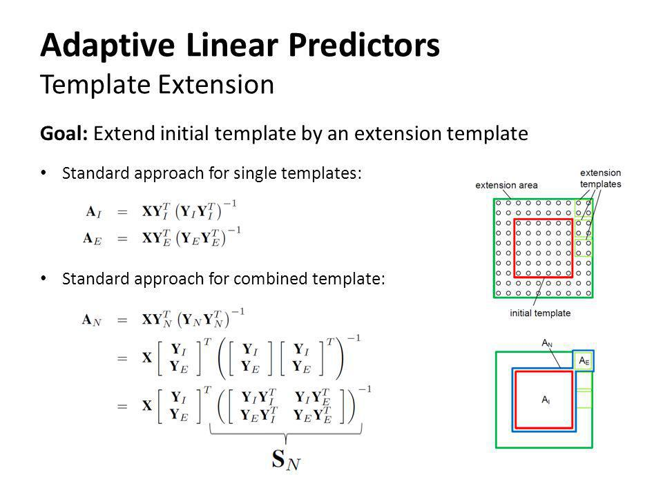 Adaptive Linear Predictors Template Extension