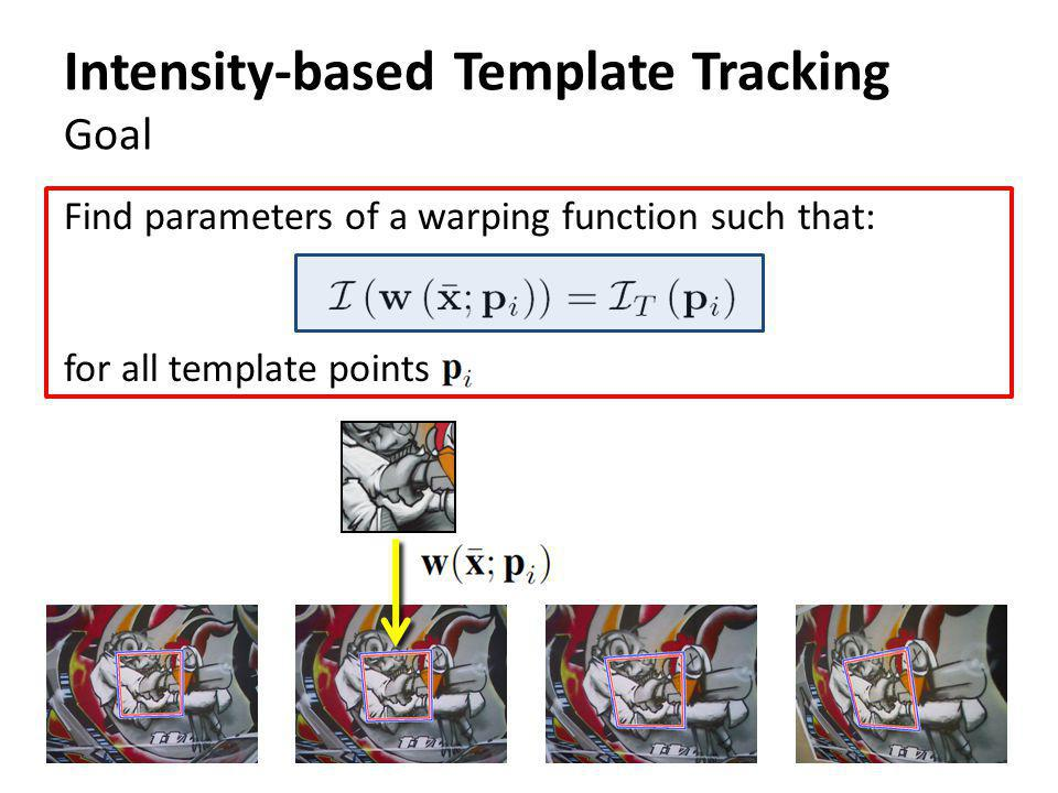 Intensity-based Template Tracking Goal