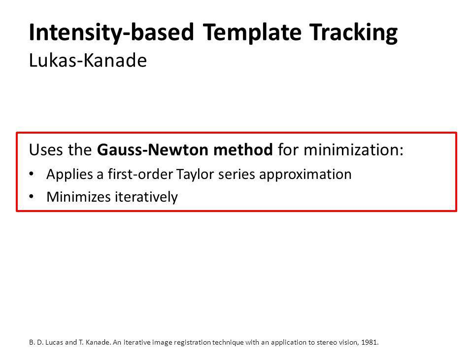 Intensity-based Template Tracking Lukas-Kanade