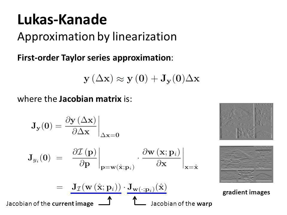 Lukas-Kanade Approximation by linearization
