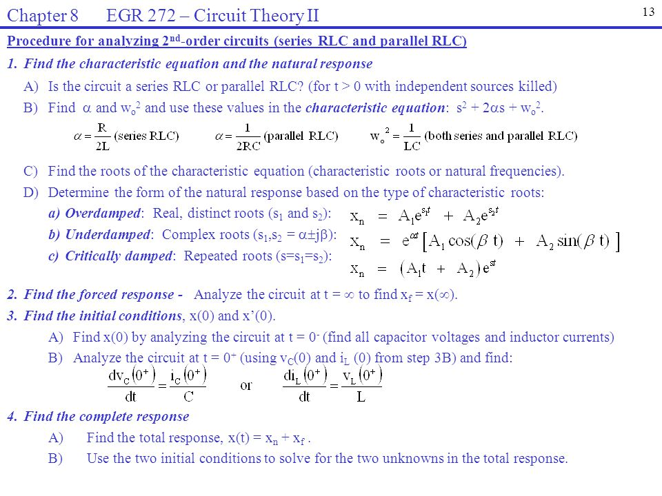 Chapter 8 EGR 272 – Circuit Theory II