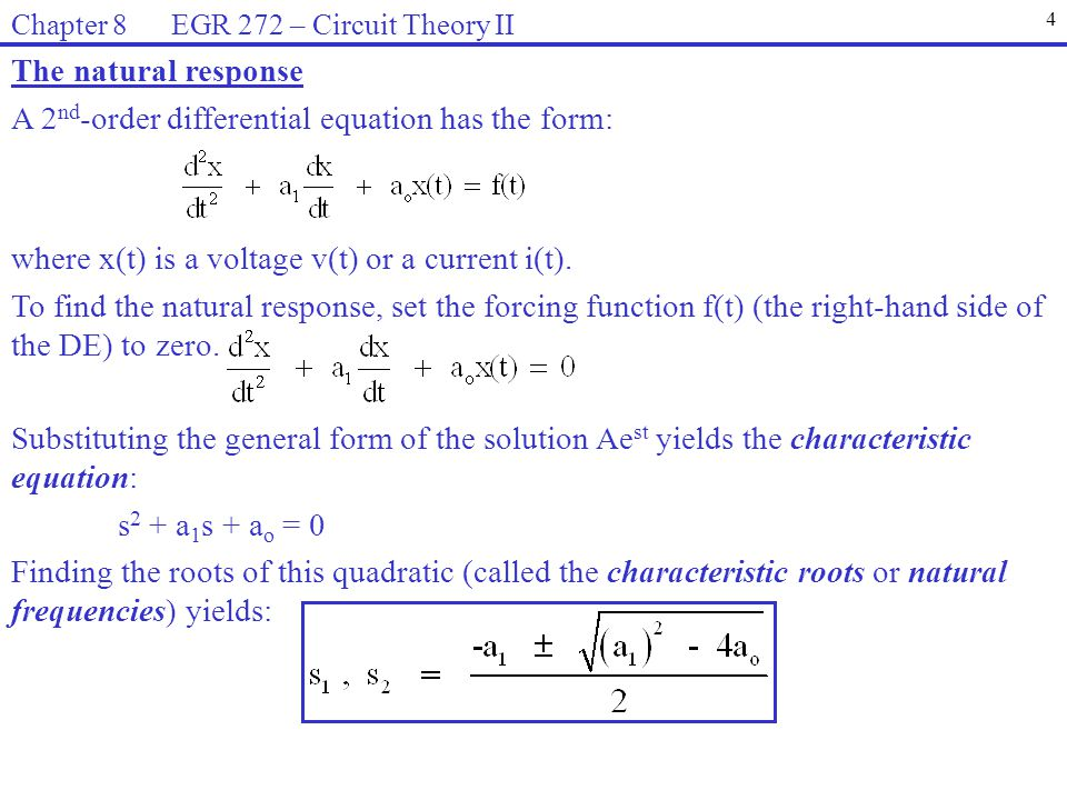 A 2nd-order differential equation has the form: