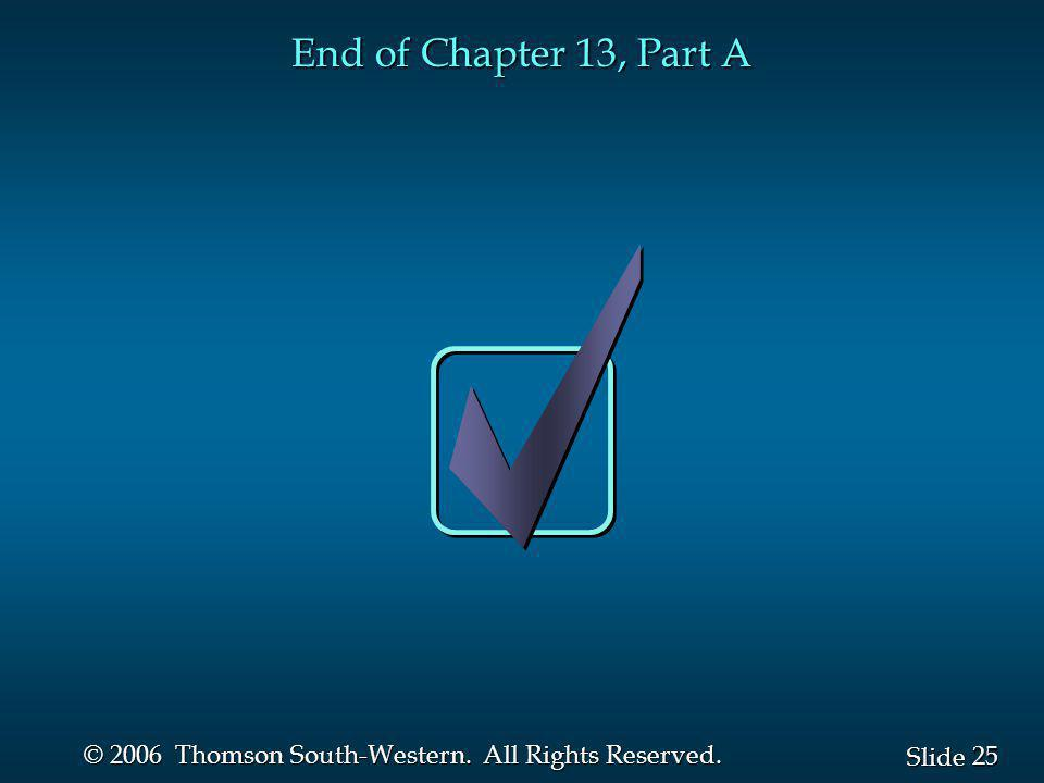 End of Chapter 13, Part A
