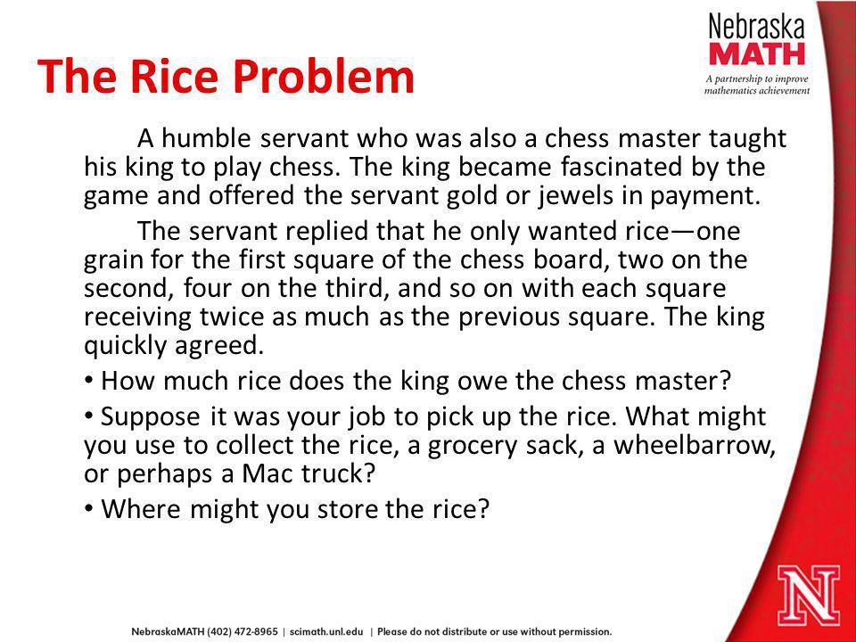 The Rice Problem