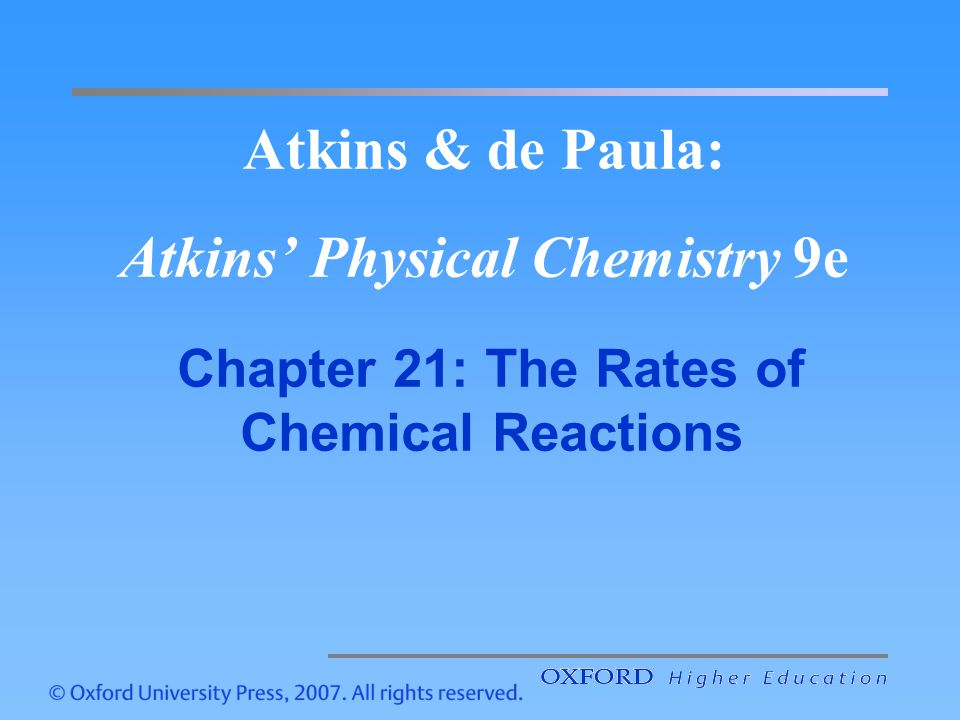 Atkins & de Paula: Atkins' Physical Chemistry 9e