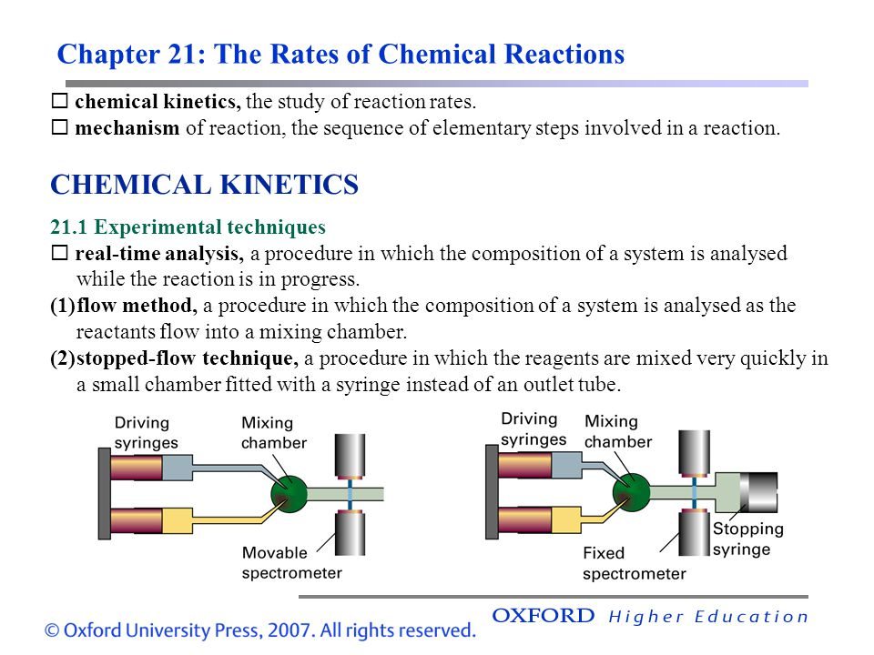 the rates of chemical reaction Catalysts, in some cases, increase reaction rates by bringing particles into close juxtaposition in the correct geometrical arrangement for reaction to occur.