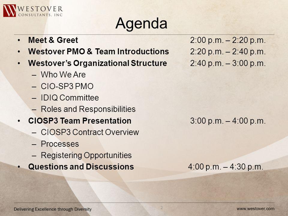 Agenda Meet & Greet 2:00 p.m. – 2:20 p.m.