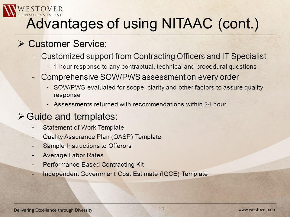 Advantages of using NITAAC (cont.)