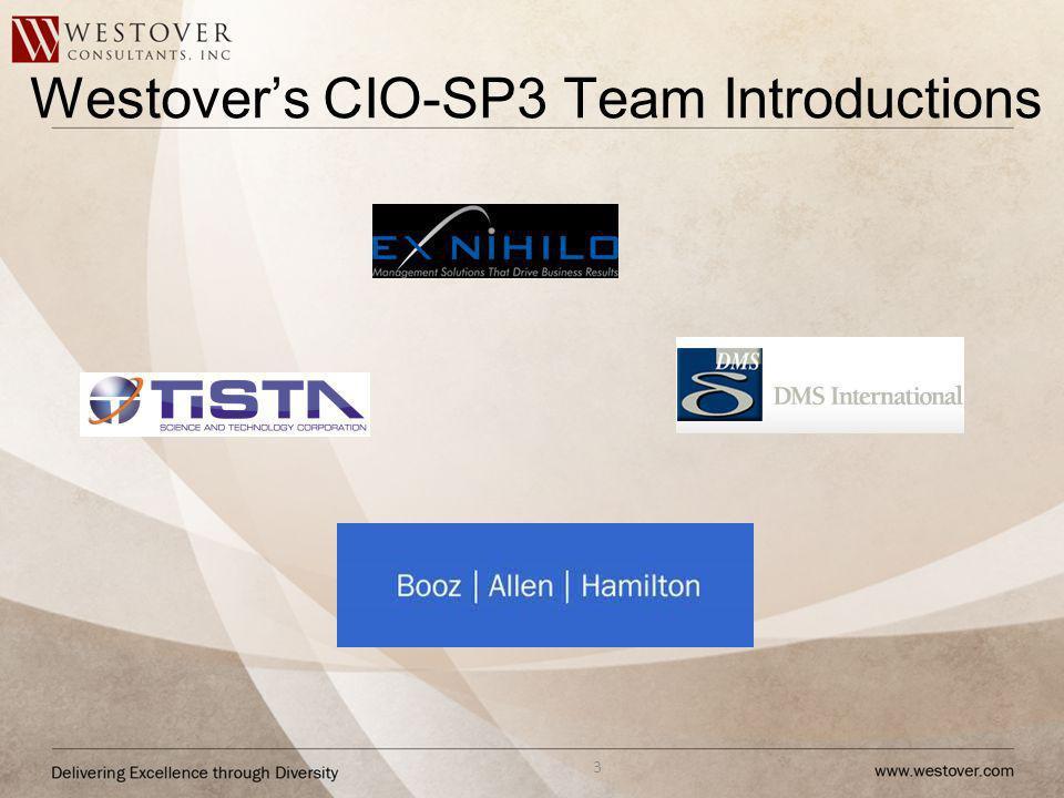 Westover's CIO-SP3 Team Introductions
