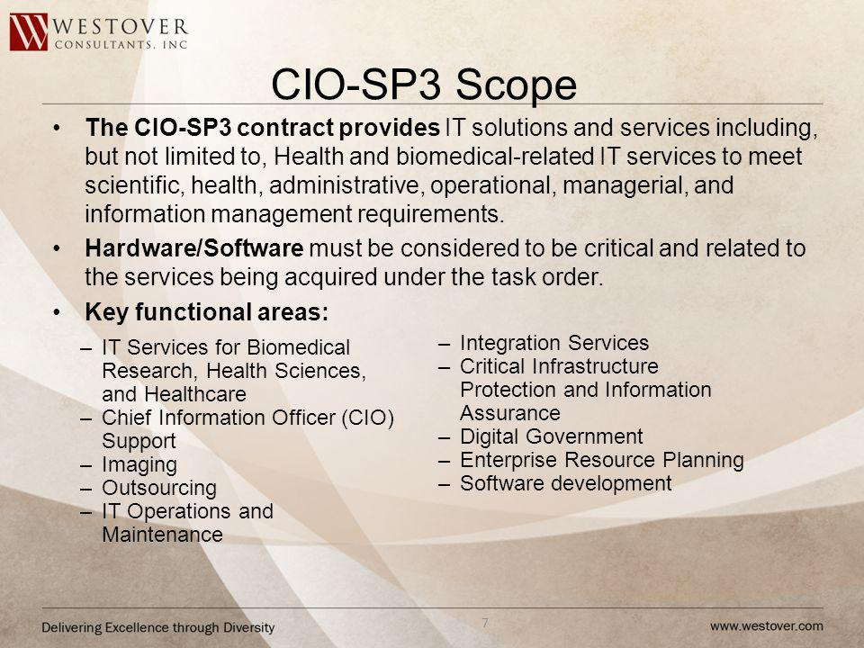 CIO-SP3 Scope
