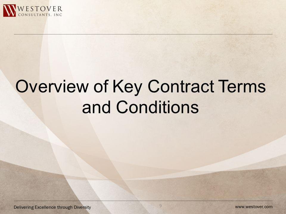 Overview of Key Contract Terms and Conditions