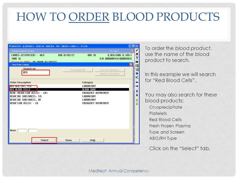 How To Order Blood Products