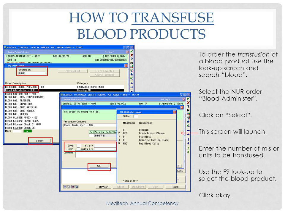 How To Transfuse Blood Products